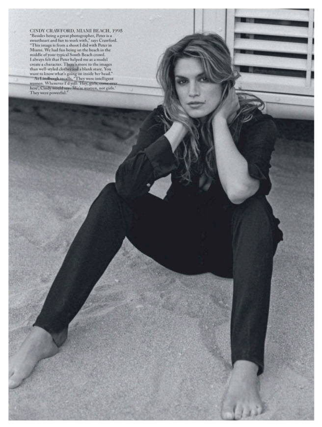 Cindy Crawford:  Timeless In A Classic Black Shirt
