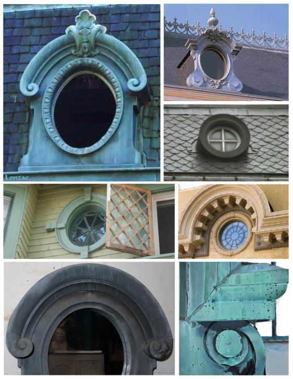 Historic French Style:  The Decorative Oeil-de-bouef Window