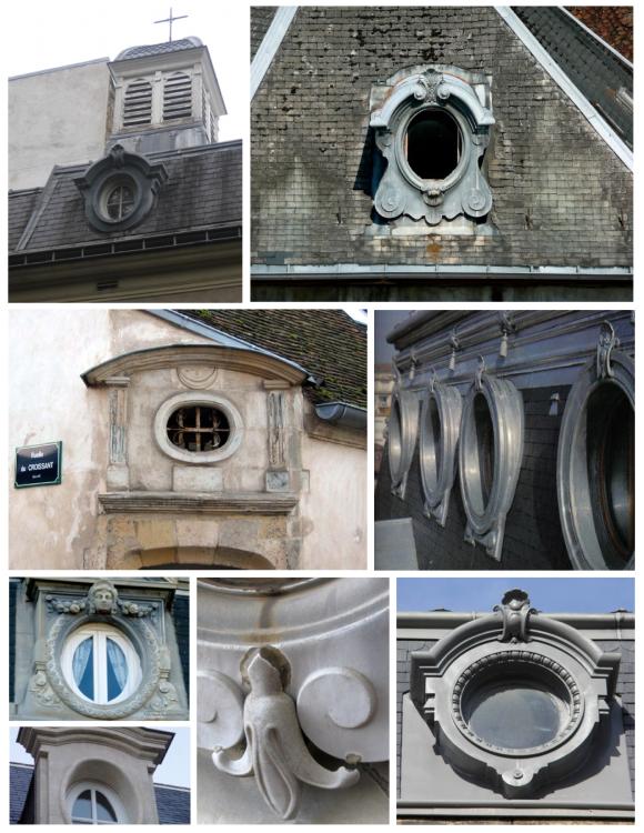 Grand Details In Architecture:  Oiel-de-bouef  Windows