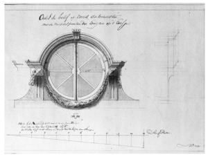 Historical Architectural Renderings: The Oeil-de-boeuf Window