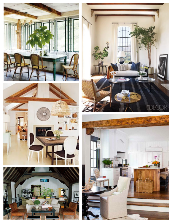 Natural Appeal With Visual Interest:  Architectural Beams