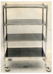 An English Regency dumbwaiter:  A Rolling étagères