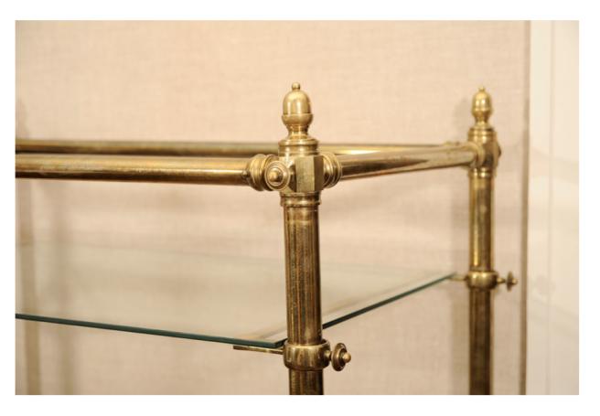 """Victorian Brass"" Étagère: Details In Design"
