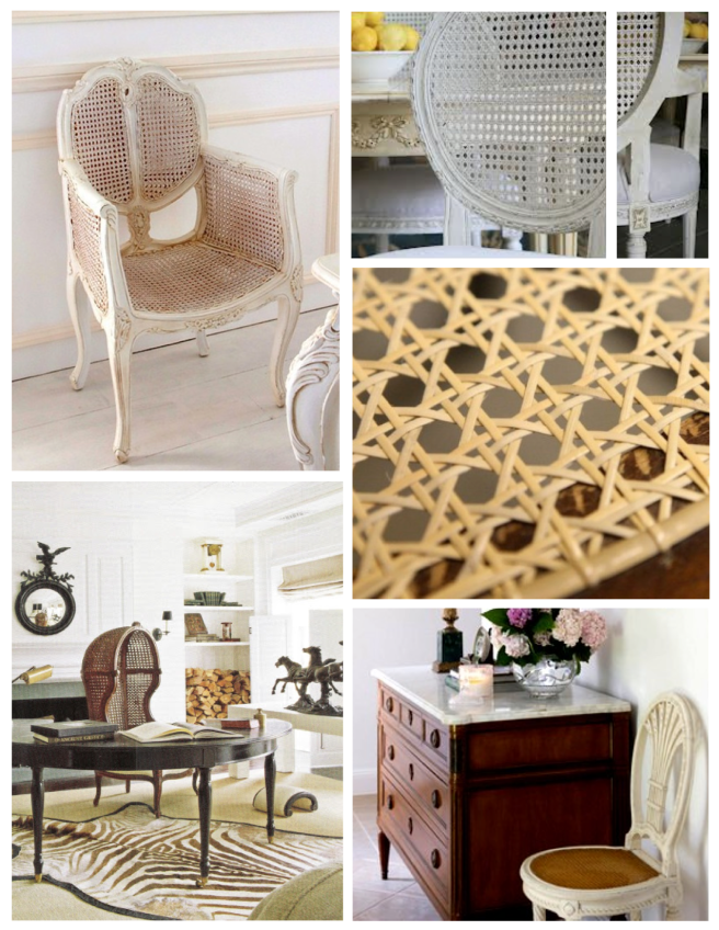 Distinctive Patterns Entwined With Artistry:  The Caned Chair