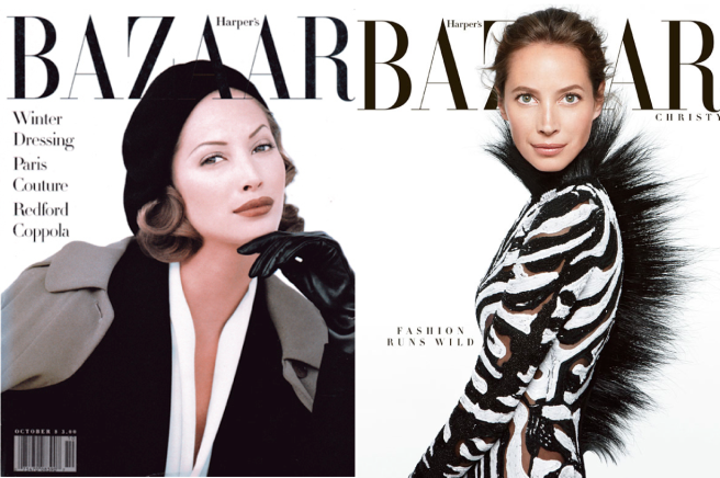 Iconic Supermodel: Christy Turlington/October 1992 &June/July 2013