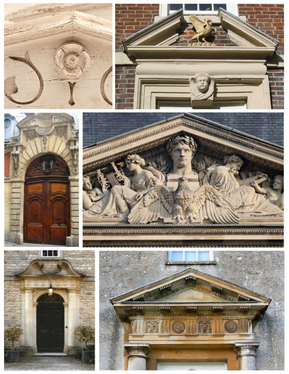 Structural & Decorative:  Pediments