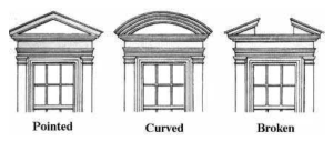 Variations Of Classic Archtitectural Design:  Pediments
