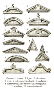 Variations In Architectural Design:  Pediments Of Distinction