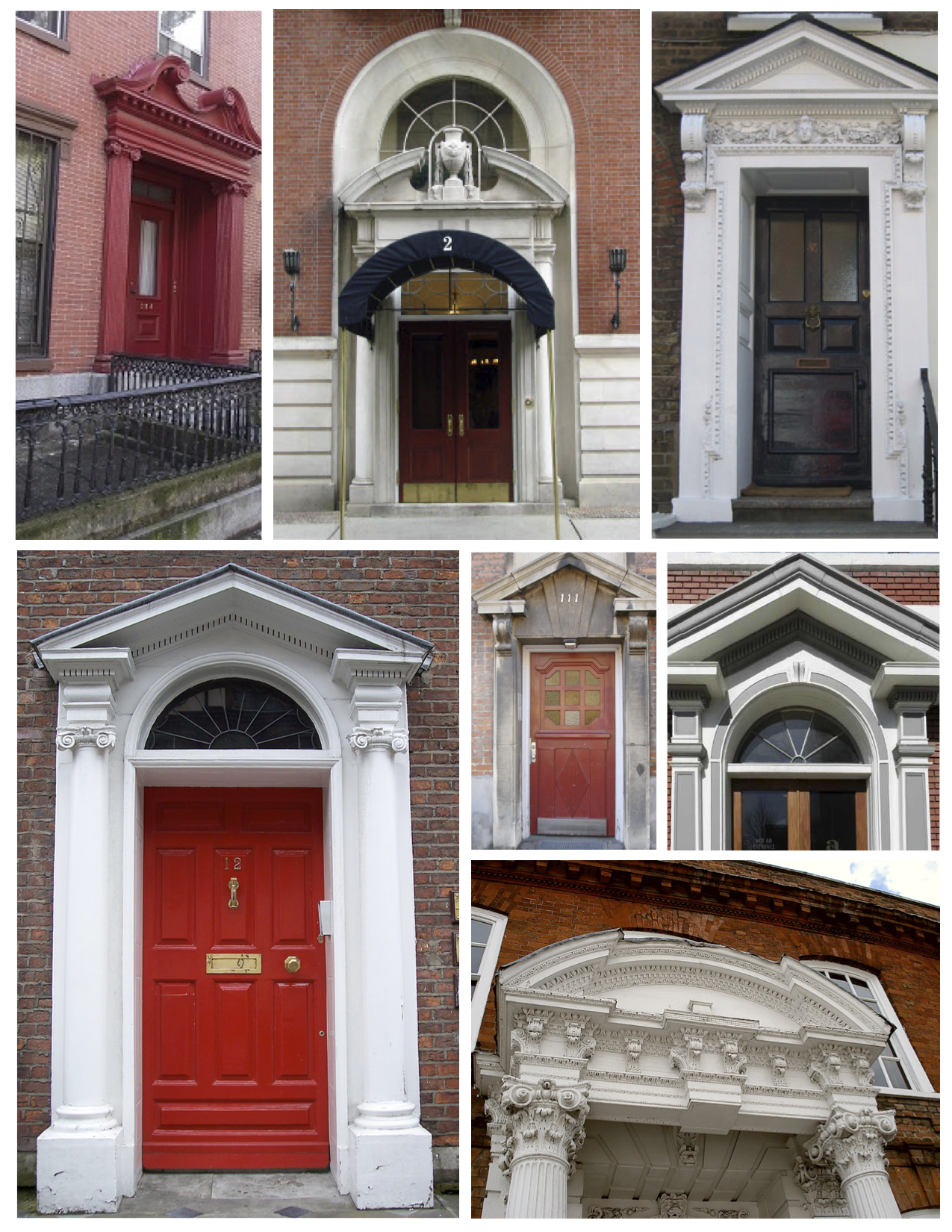 Pediments classical elements of ancient architecture for Exterior door pediment and pilasters