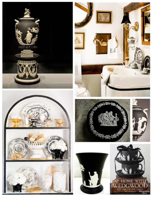 Bold Impact Within The Interior:  Black Jasperware