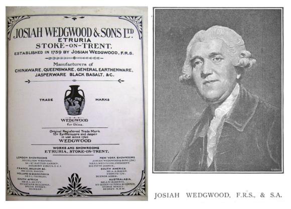 Josiah Wedgwood:  (1730-1795) Innovator Of Enduring  Style