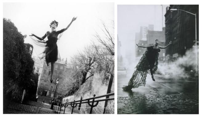 "Fashion Models In ""Flight"":  Visual Delight (Linda Evangelista/right)"