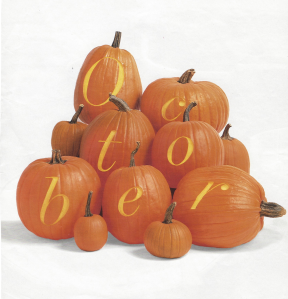"""The """"Great Pumpkin"""":  October's Harvest Of Iconic Style"""