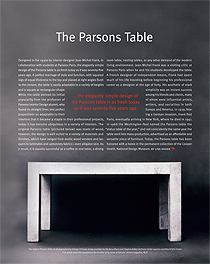 The Classic Parsons Table
