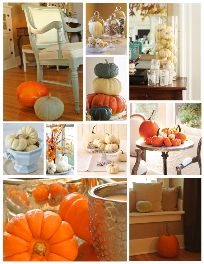 "Autumnal Gifts Of Nature Within The Interior:  ""Pumpkins"""