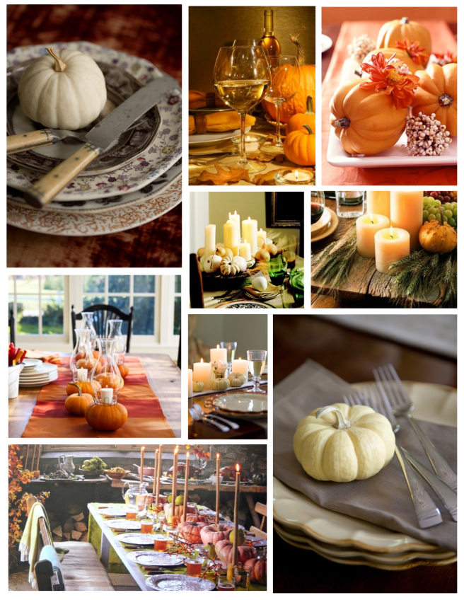 Entertaining & Table Decor:  The Embellishment With Pumpkins