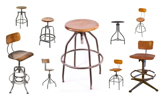 "Industrial Appeal & Character:  The ""Vintage"" Drafting Stool"