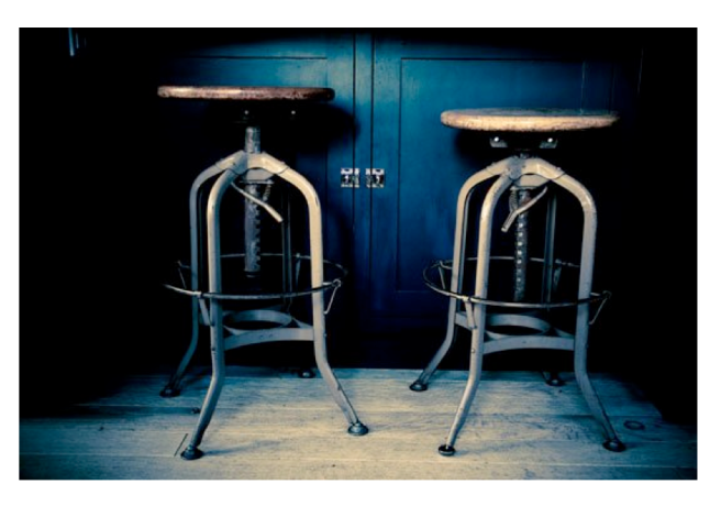 Adjustable Height With Timeworn, Industrial Appeal:  The Iconic Draftsman Stool