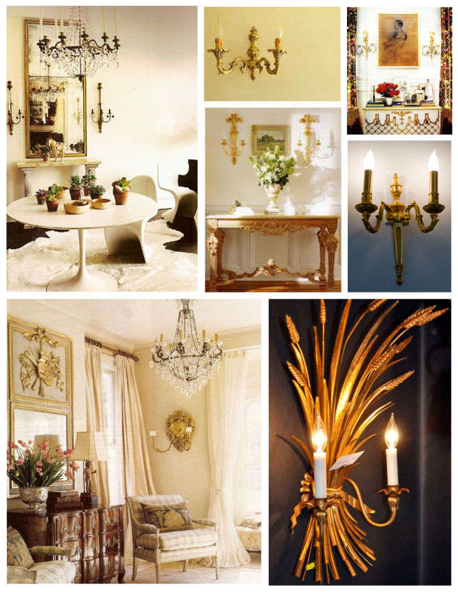 Stylish Embellishments Of Glowing Style:  Sconces