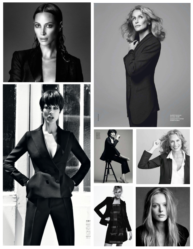 Classic Black  Suiting On The Woman