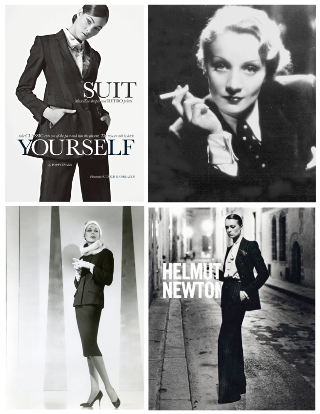 "Iconic Style:  The Black ""Suit"" Jacket Within Fashion's Archives"