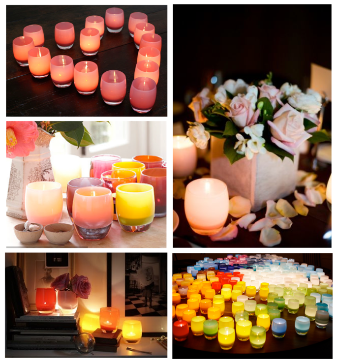 Colorful Delight In Candlelight:  glassybaby Style