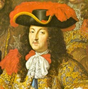 French King Louis XIV Decorated With An Early Cravat/1667