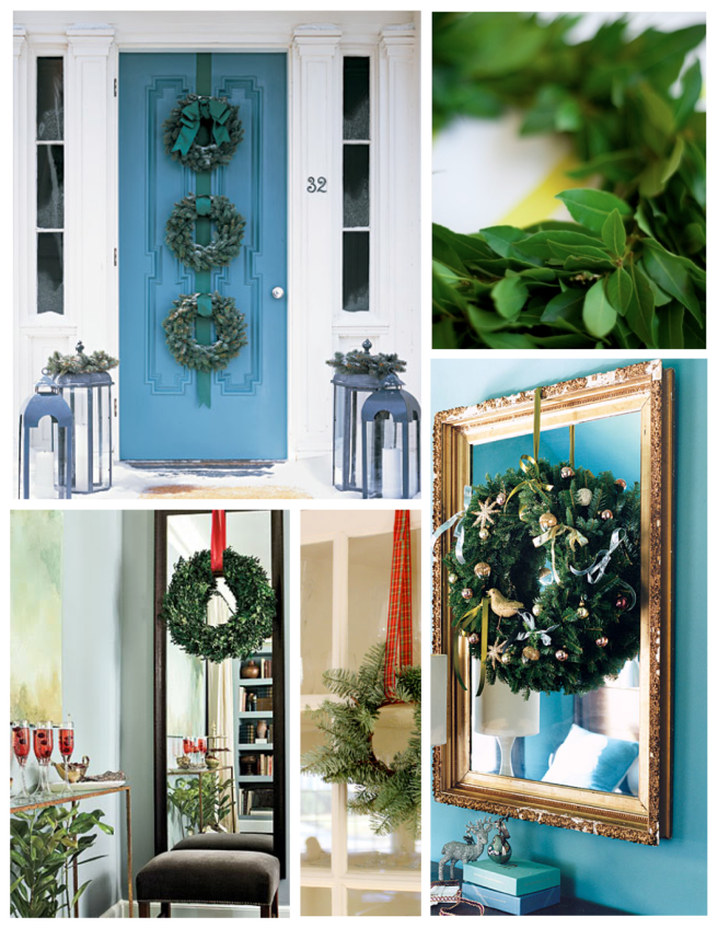 Festive Embellishments Of  The Season:  The Christmas Wreath