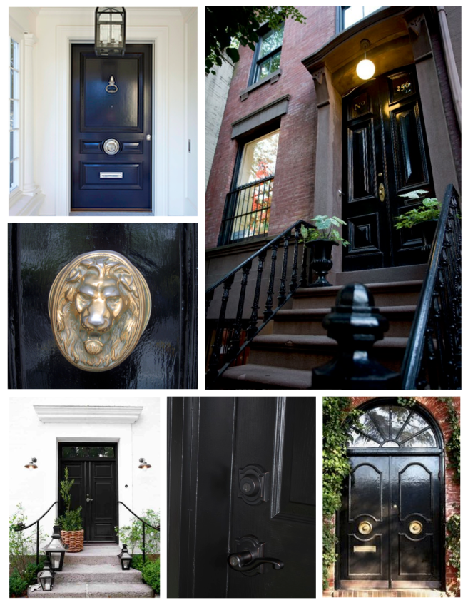 Classic Style:  Ebony Painted Exterior Doors