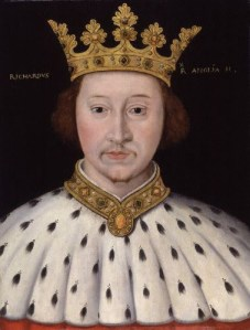 King Richard II (1367-1400)  Reigned 1377-1399-
