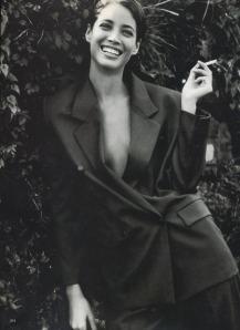 90's Christy Turlington:  Classic Black Jacket