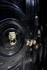 Ebony Distinction:  The Black Painted Door