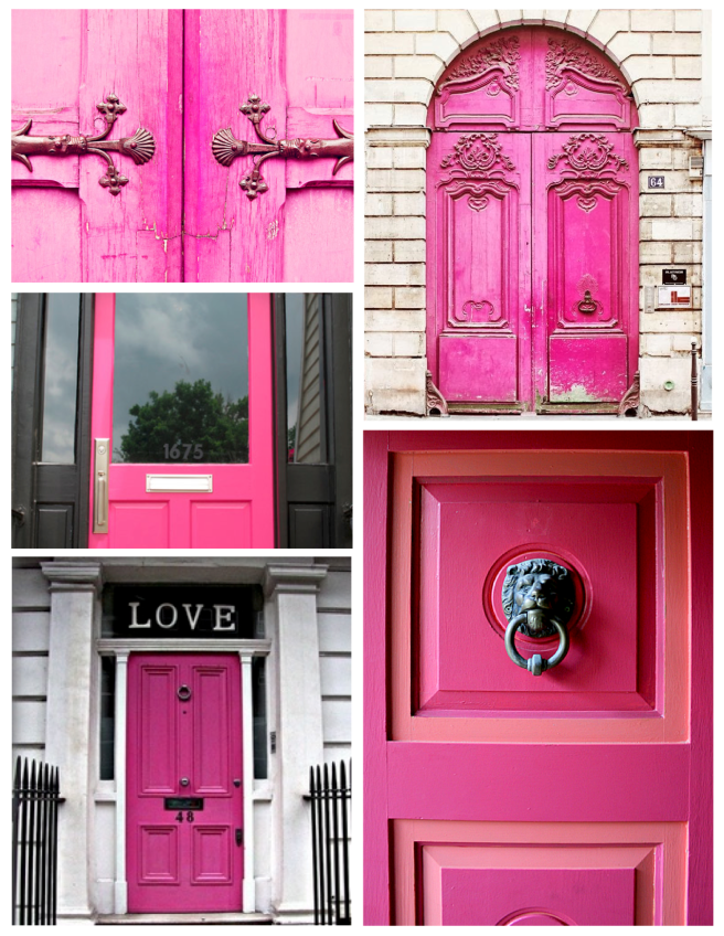 A Bold Statement:  Doors Coated In Shades Of Vivid Pink
