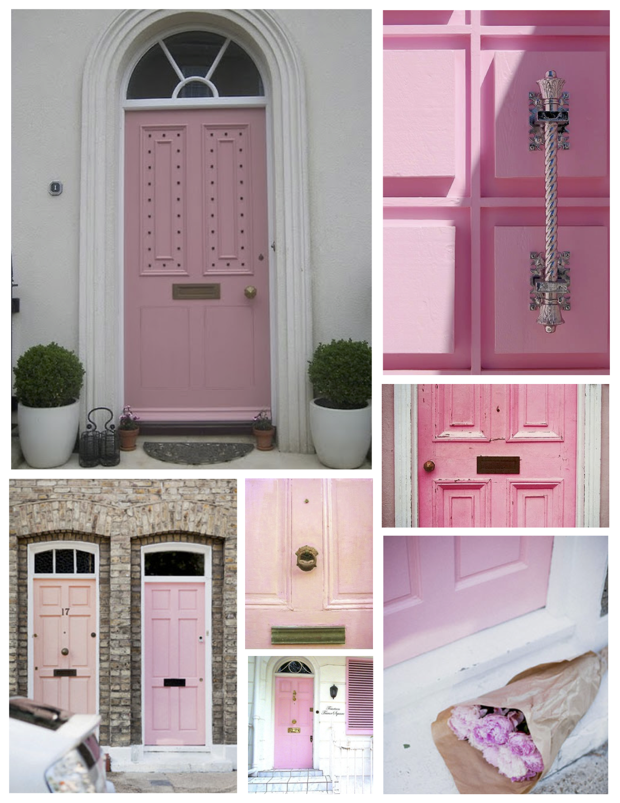 Pastel Bliss: The Front Door Layered In Soft Hues Of Pink