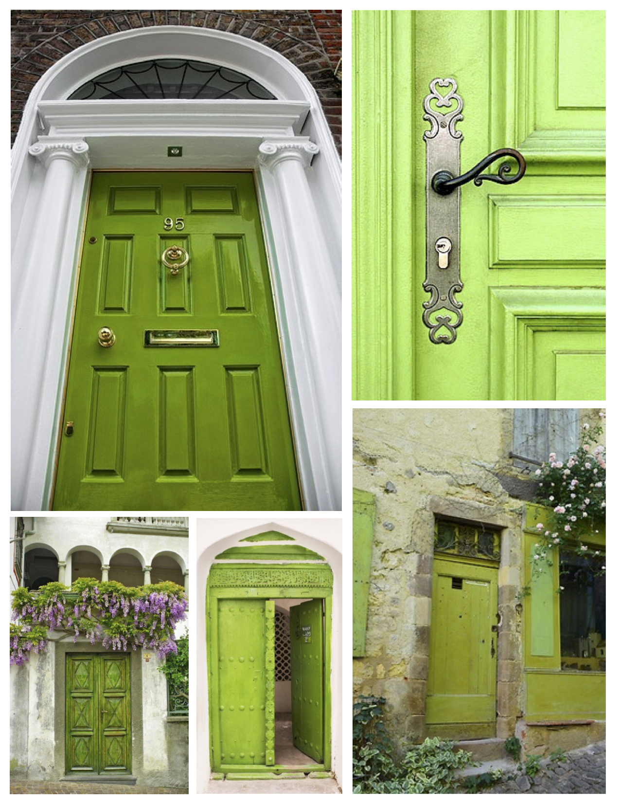"1650 #7A9F2C  Green"" Delight: Fresh & Vivid Green Painted Doors The Painted Green save image Green Front Doors 47971275"