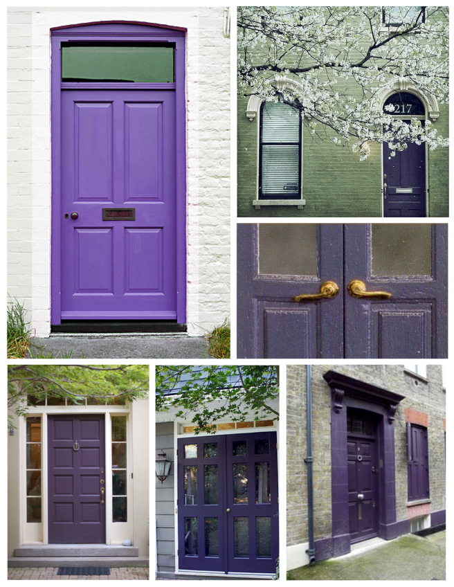 Dramatic & Energetic:  The Purple Hued Painted Exterior Door