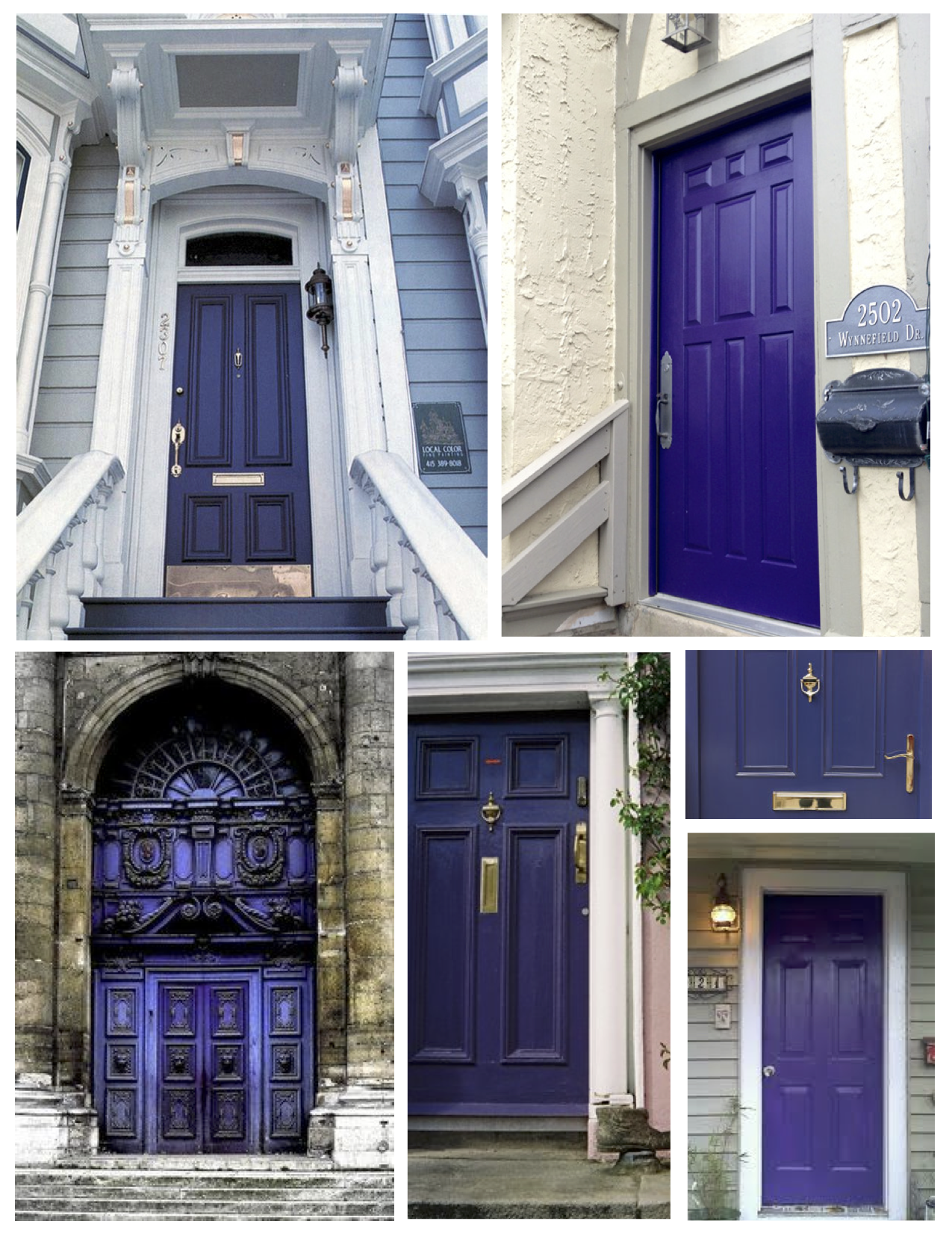 Exterior color inspirations the regal dramatic purple painted door house appeal - Purple exterior paint image ...