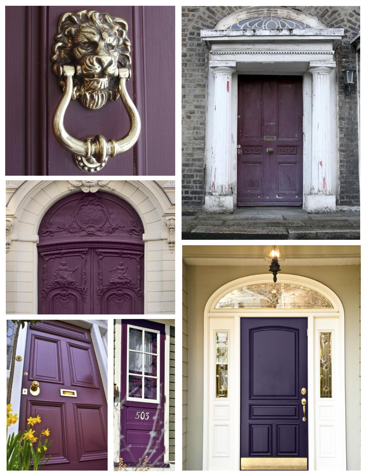 Exterior Door Color Eggplant Paint