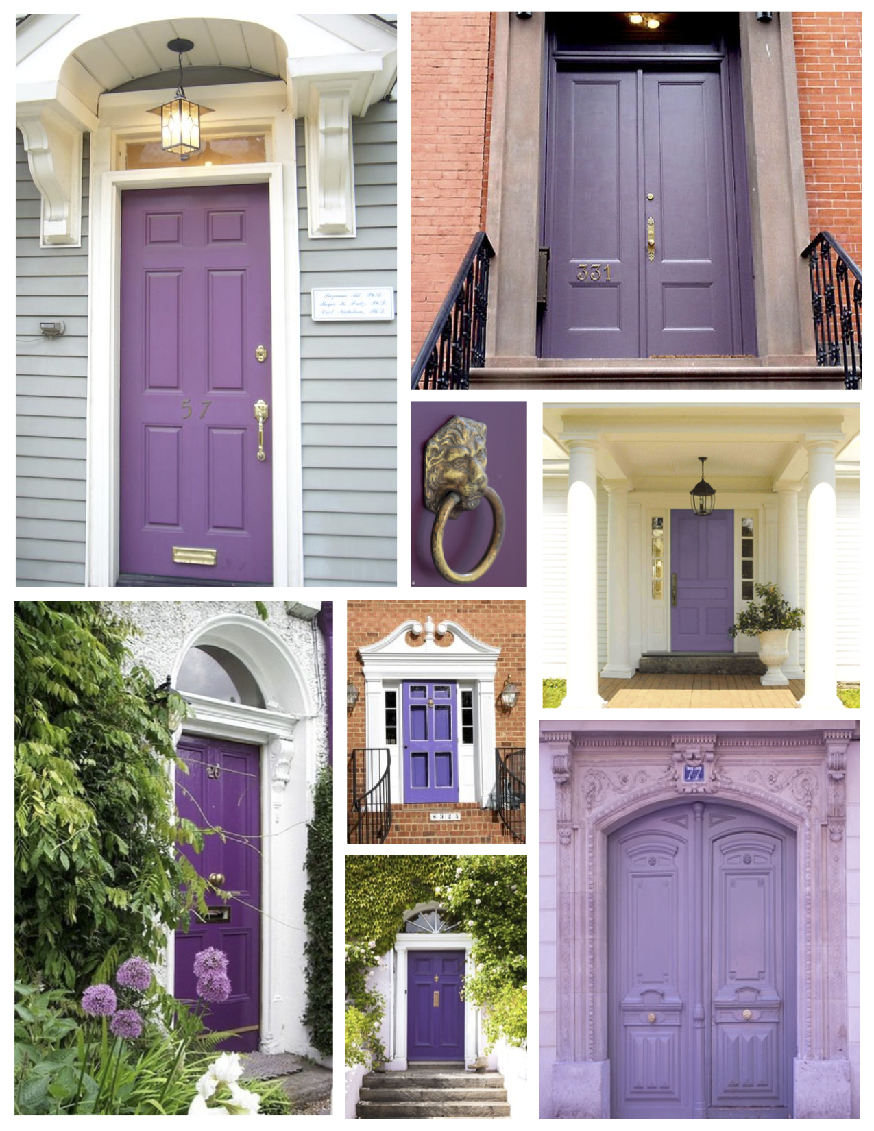 Exterior Color Inspirations The Regal Dramatic Purple Painted