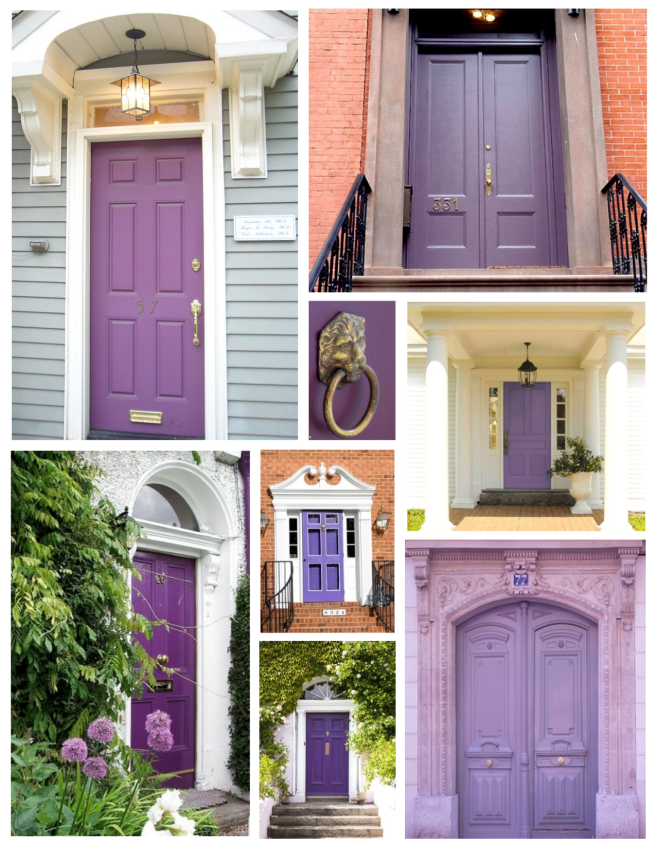 Lavender Bliss:  Soft, Purple Hued Painted Exterior Doors