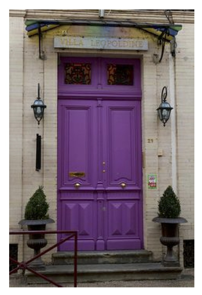Exterior color inspirations the regal dramatic purple for Images of painted doors