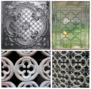 Exterior & Interior Representations Of  Graphic Shape:  Quatrefoil