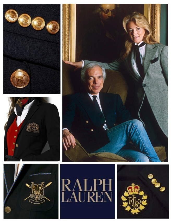 The Classic World Of Ralph Lauren:  Emblazoned With Crests & Brass Buttons/ (Ralph & Ricky Lauren)