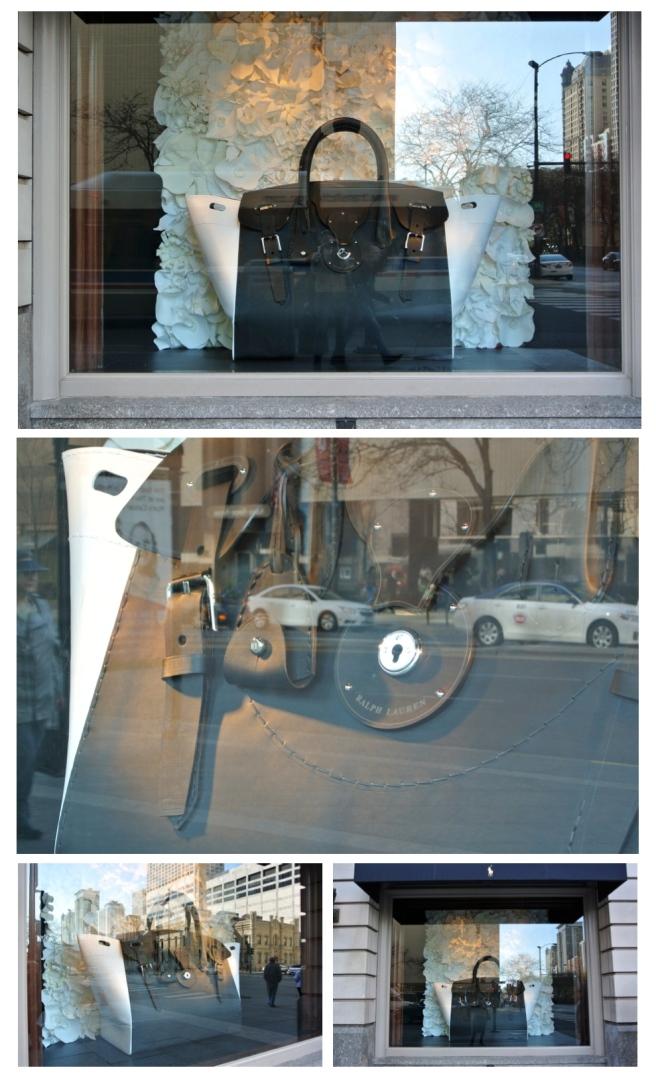 Colossal Impact:  Ralph Lauren's Larger-Than-Life Handbag Michigan Avenue/Chicago