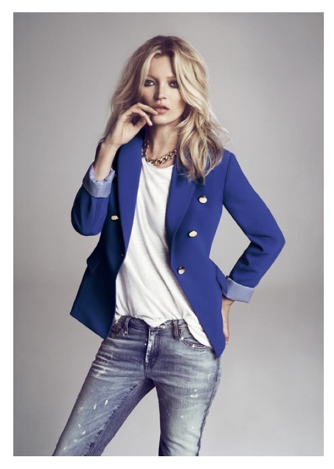 Images of Navy Blue Blazer Womens - Reikian