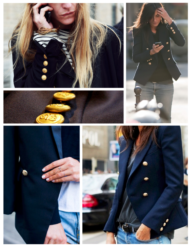 Classic & Timeless Appeal:  The Navy Blue Blazer With  Distinctive Gold Buttons