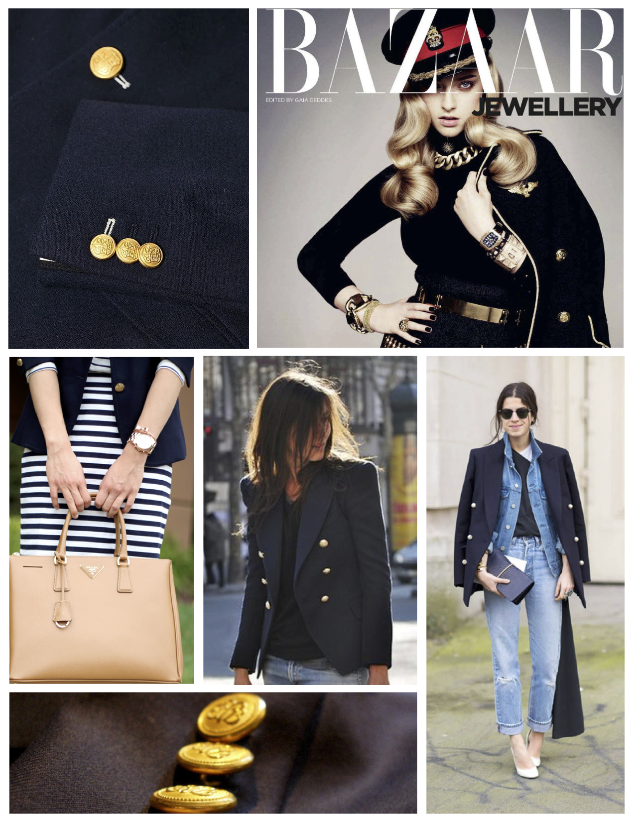 """Stylized With Distinctive Buttons Of """"Brassy Gold"""": The"""
