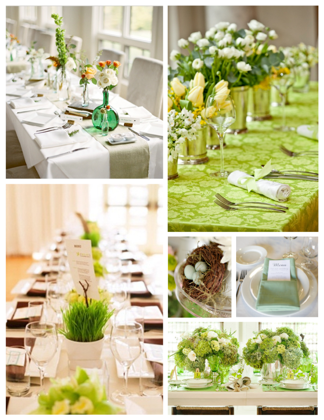 Bright & Fresh Visual Display:  The Spring Tabletop
