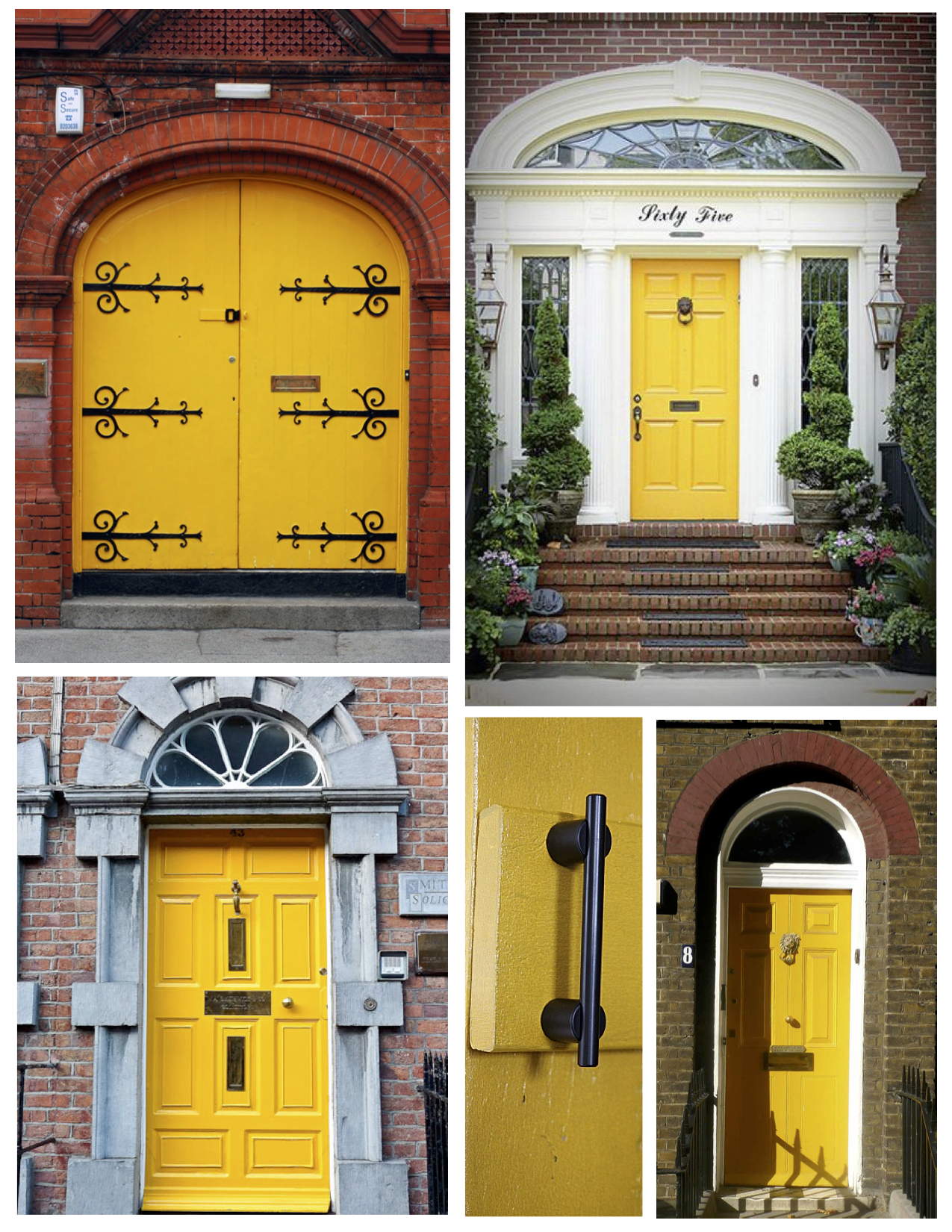 Exterior Color Inspirations: The Bright & Bold Yellow Door ...