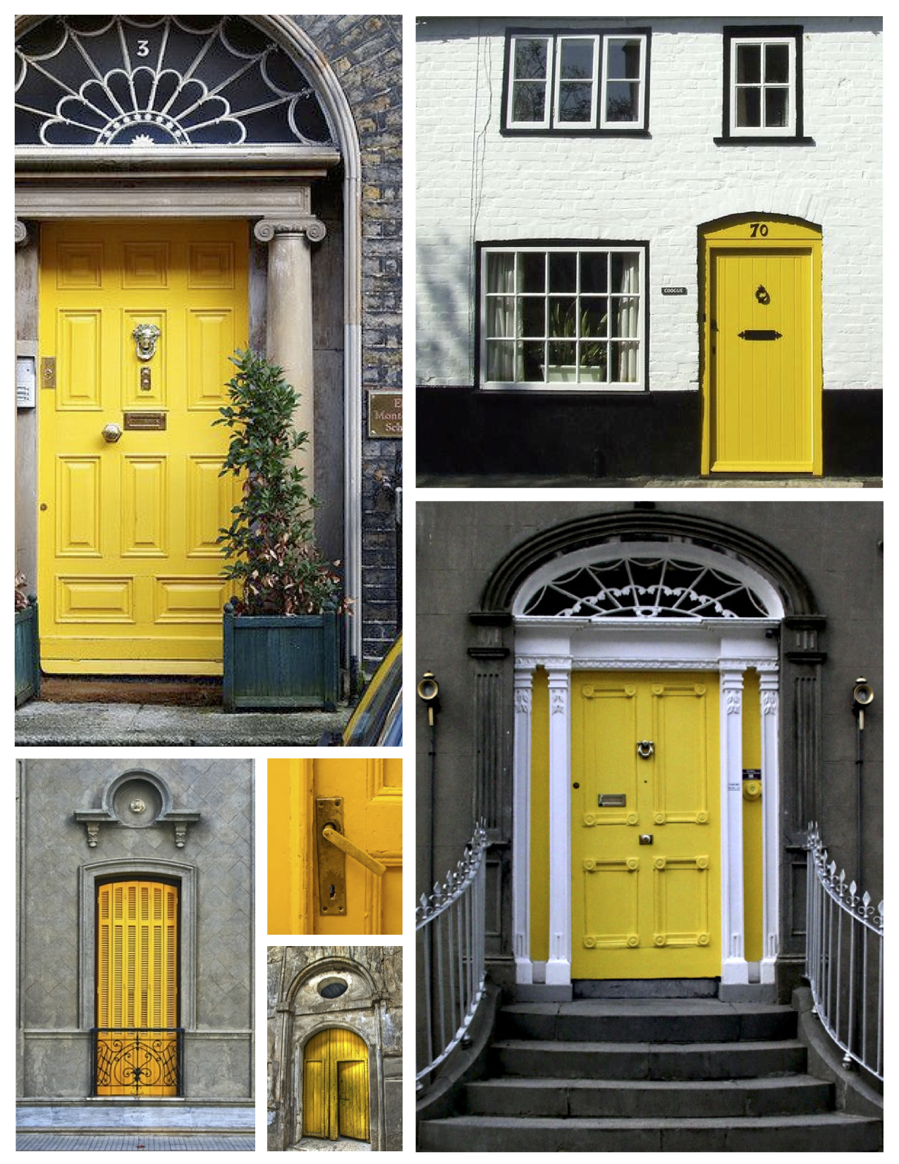 Exterior color inspirations the bright bold yellow door for Front door yellow house